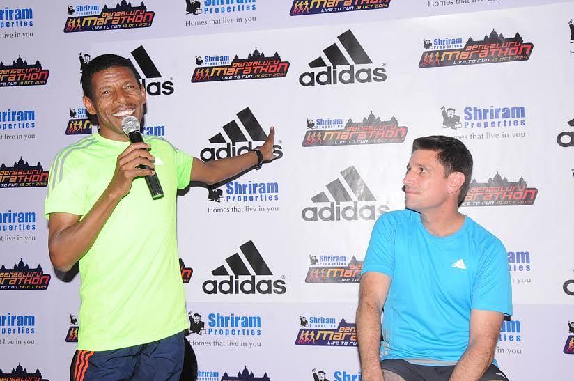 Adidas presents Haile Gebrselassie at Bengaluru Marathon Expo