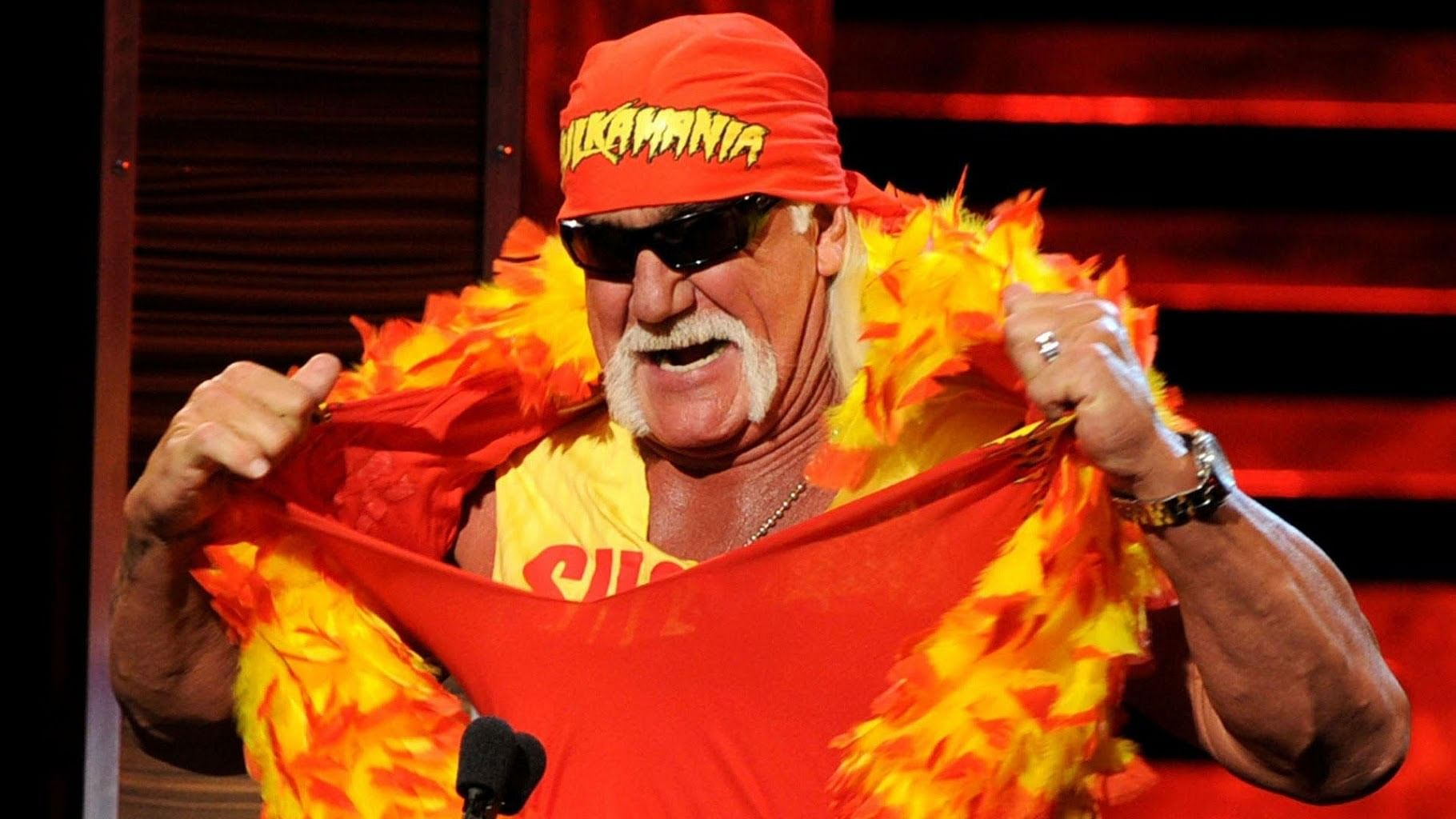 Hulk Hogan appears after Raw goes off air, gives his predictions on HIAC matches