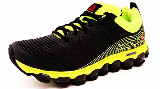 37817ca49dc reebok jetfuse run yellow running shoes black