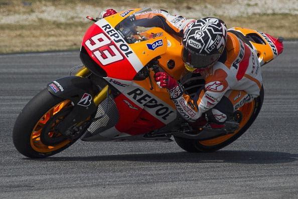 Champion Marquez takes Australian MotoGP pole