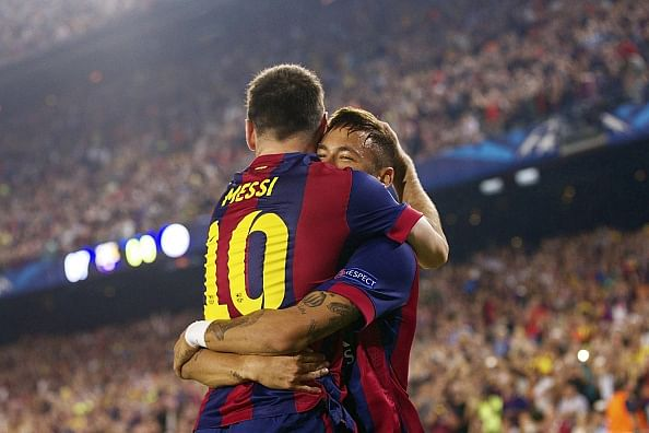 UEFA Champions League highlights: Barcelona 3-1 Ajax - Messi equals Ronaldo in Raul's record chase.