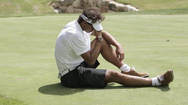 Rafael Nadal pranks golfers