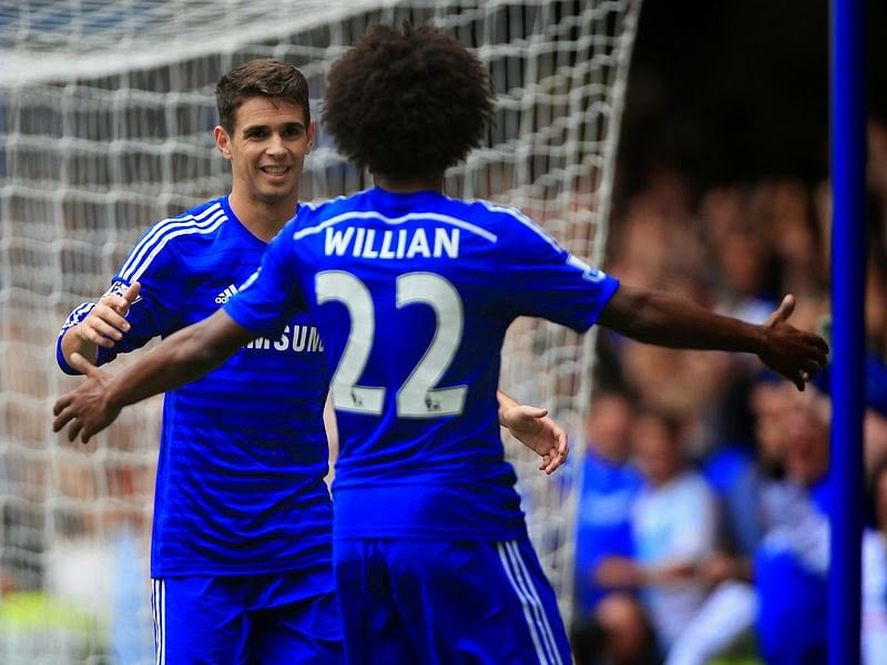 Oscar and Willian's twitter message ahead of tonight's game against Maribor