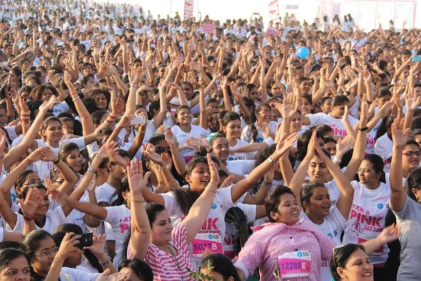 Inaugural edition of 'SBI Pinkathon 2014 Amdavad' flagged off on October 12
