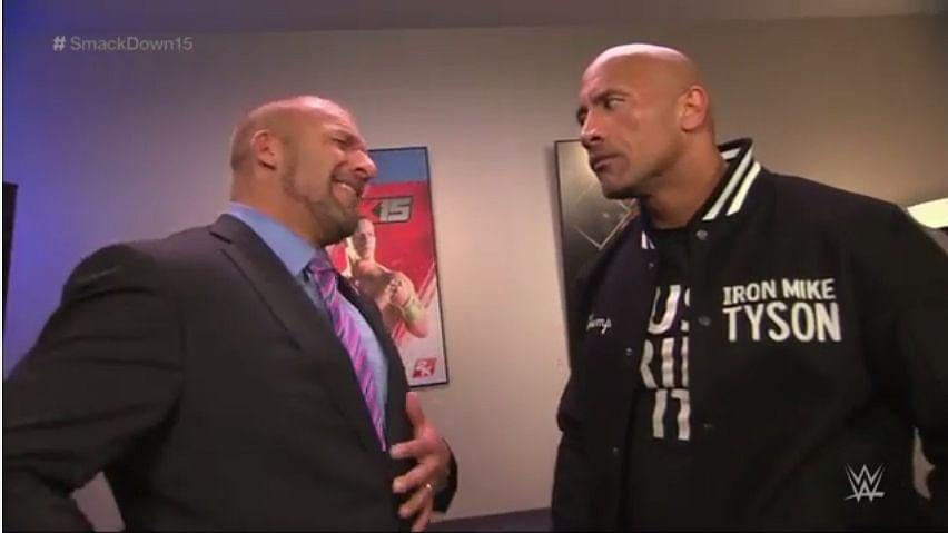 The Rock and Triple H tease a Wrestlemania 31 match, Laurinaitis hints a WWE return