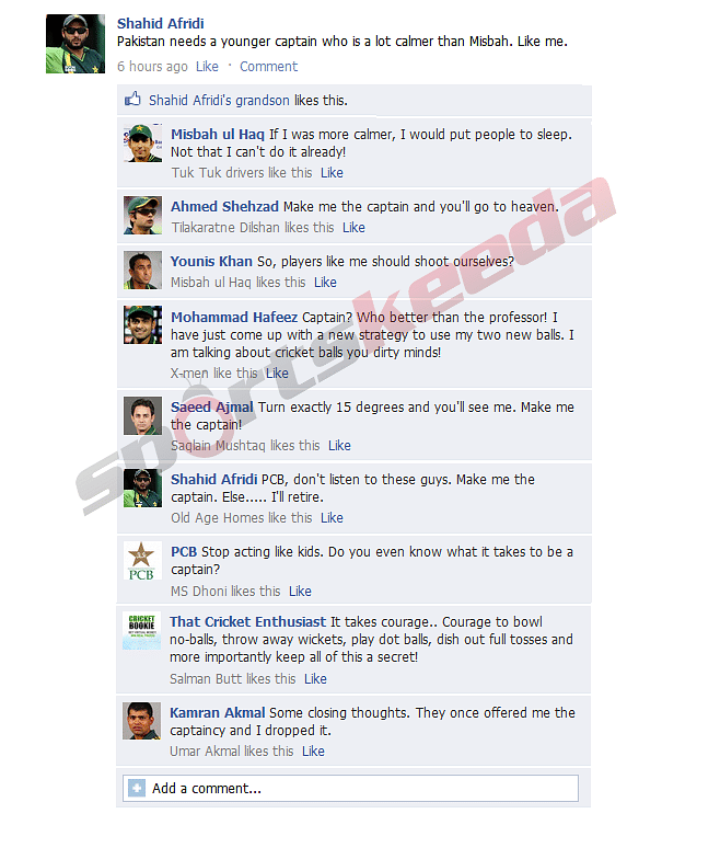 FB Wall: Pakistan cricketers audition for World Cup captaincy