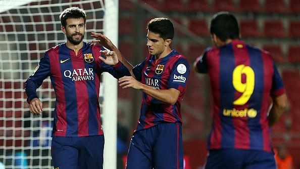 Video: Luis Suarez delivers mouth-watering assist for Gerard Pique as Barcelona beat Espanyol