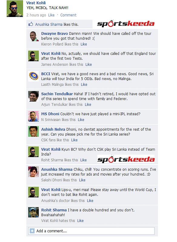 FB Wall: Virat Kohli trolls until he gets trolled