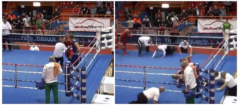 Video: Boxer brutally beats down referee after losing bout