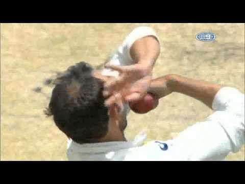 Video: Nathan Lyon gets massive spin after ball hits a crack