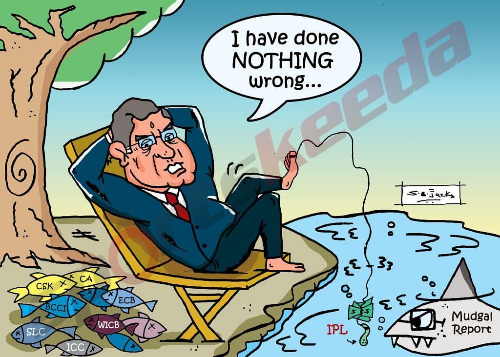 Comic: N Srinivasan v Mukul Mudgal
