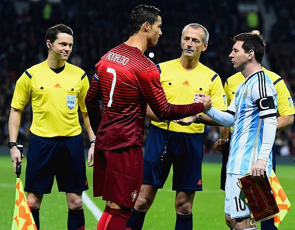 Top 5 priceless pictures of Ronaldo and Messi during Portugal vs Argentina