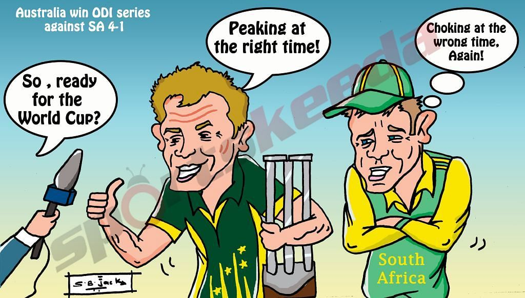 Comic: Australia and South Africa's preparations for World Cup on track