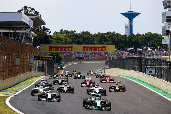 Top five drivers from the Brazilian Grand Prix