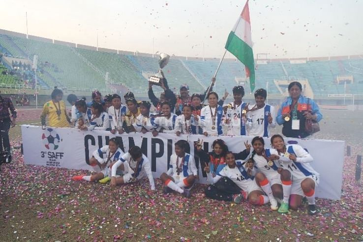 SAFF Women's Cup 2014: Indian defeat Nepal 6-0 to retain title