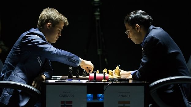World Chess Championship 2014: Game 5 drawn after opening blitzkrieg from Magnus Carlsen