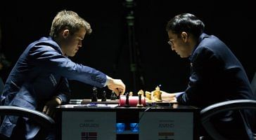 World Chess Championship: Carlsen holds Anand for a draw in game 10