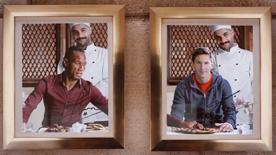 Drogba no puede con Messi en el último comercial de Turkish Airlines