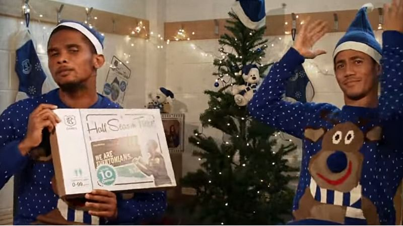 Video: Samuel Eto'o will haunt you this Christmas with his acting in this hilarious commercial
