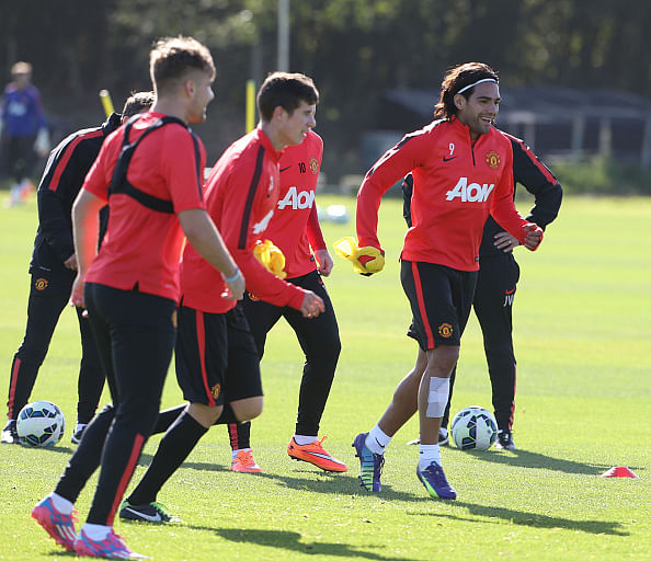 Manchester United's Radamel Falcao could sit out the game against Arsenal