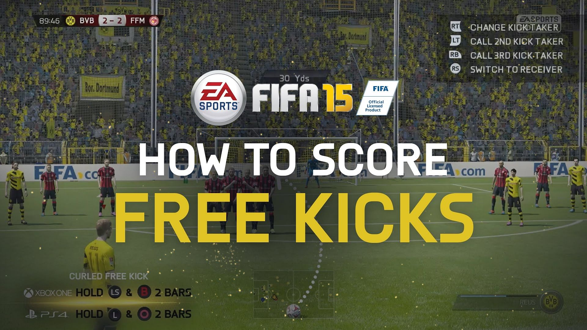 FIFA 15 - Tutorial for scoring Free Kicks