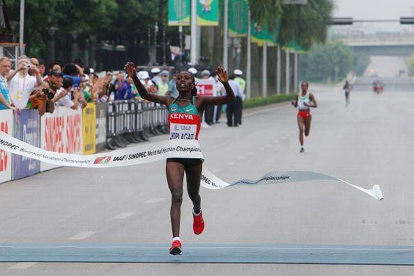 Florence Kiplagat, Gladys Cherono and Lucy Kabuu top contenders at Airtel Delhi Half Marathon 2014