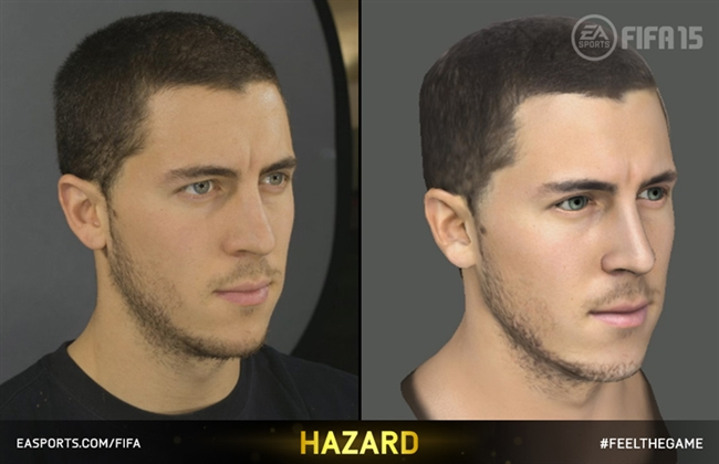 Screenshots of FIFA 15 player head scans