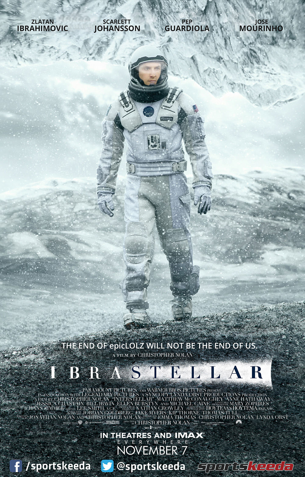 Humour: Christopher Nolan confirms plans for Interstellar-sequel 'Ibrastellar' featuring Zlatan Ibrahimovic