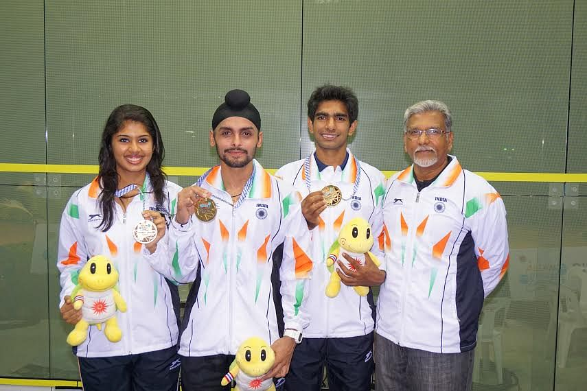 India win gold at Asian Beach Games squash