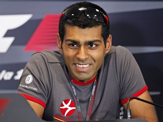 The 34-year old son of father Vicky Chandhok and mother(?), 174 cm tall Karun Chandhok in 2018 photo
