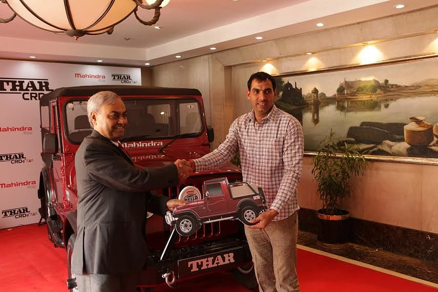 Mahindra felicitates Pro-Kabaddi League's star player, Anup Kumar with its legendary 4X4 offroader