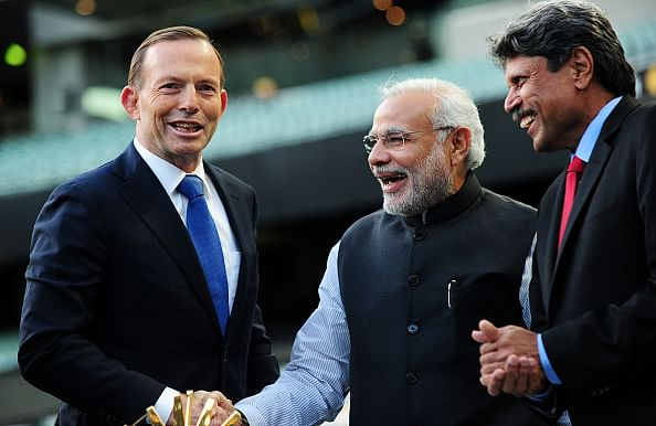 Indian PM Narendra Modi visits Melbourne Cricket Ground with Australian counterpart Tony Abbott