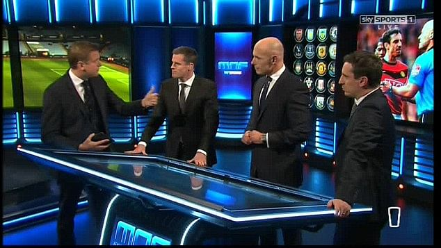 Video: Howard Webb discuses diving and yellow cards with Sky Pundits Neville and Carragher