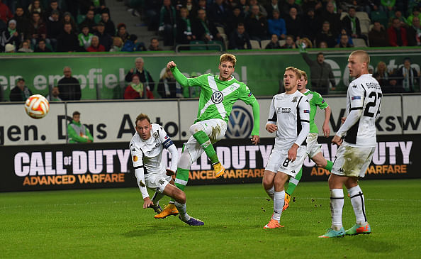 Video: Nicklas Bendtner scores two fantastic goals in Europa League for Wolfsburg