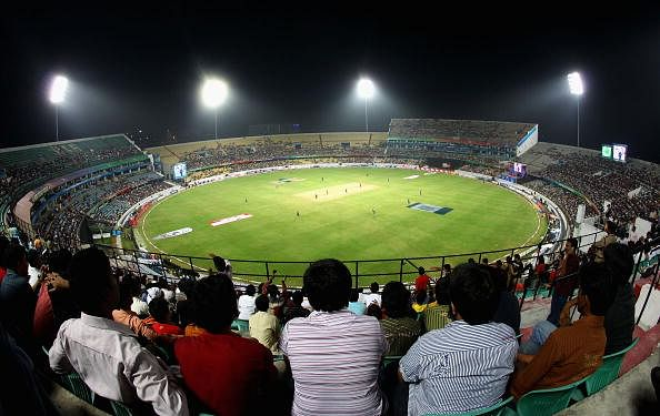 Rajiv Gandhi International Stadium stands named after former cricketers