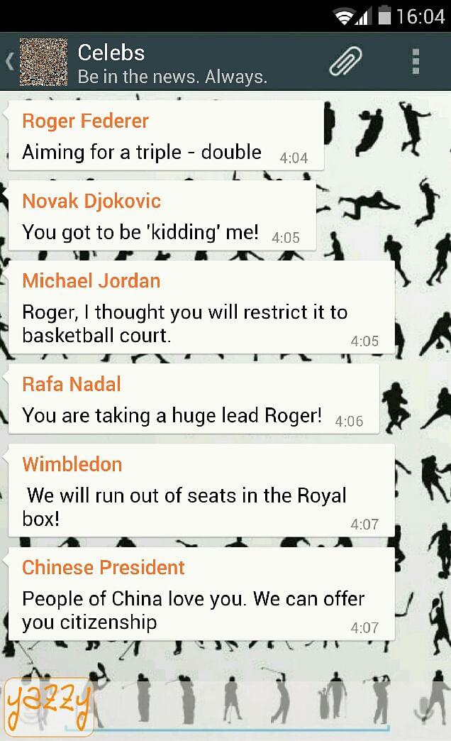Humour: WhatsApp conversation between celebs!