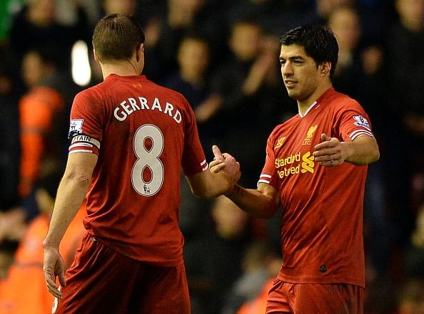 Luis Suarez thanks Steven Gerrard after he stopped him from joining Arsenal in 2013