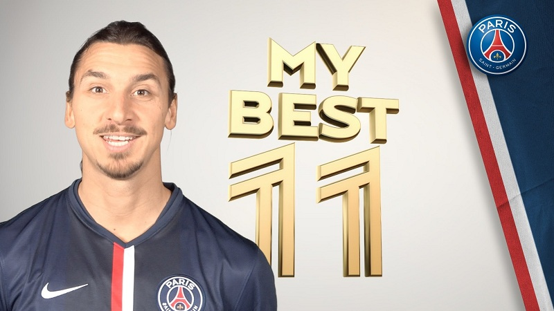 Video: Paris Saint-Germain star Zlatan Ibrahimovic picks his best XI of footballers