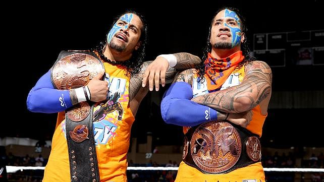Jimmy uso and jey uso wwe tag team champions