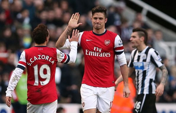 Highlights: Santi Cazorla and Olivier Giroud star as Arsenal saunter to 4-1 victory over Newcastle United
