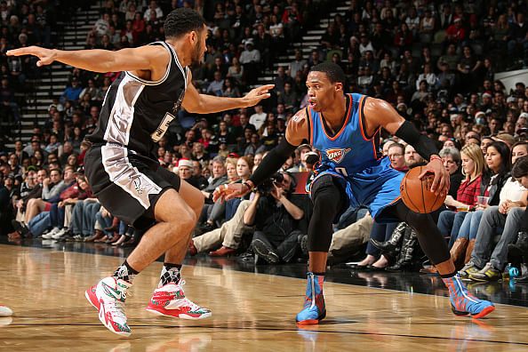 Talking points from Oklahoma City Thunder's win over the Spurs on Christmas day