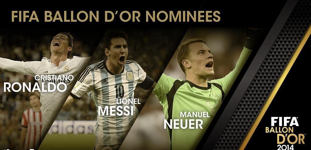 Ballon d\'Or 2014: FIFA announces final three nominees for the award