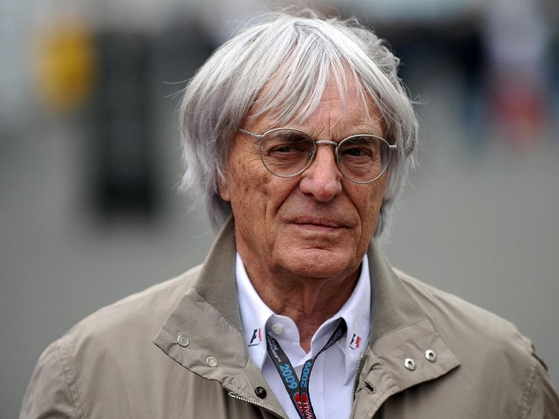 The 87-year old son of father (?) and mother(?), 159 cm tall Bernie Ecclestone in 2018 photo