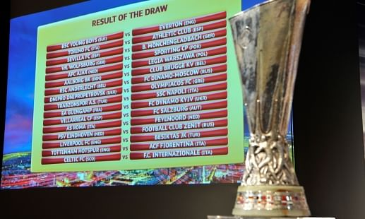 Europa League round of 32 draw: Liverpool to face Besiktas, Celtic drawn against Inter