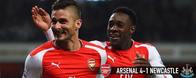 Match Report: Giroud and Cazorla fire as Arsenal gun down Magpies
