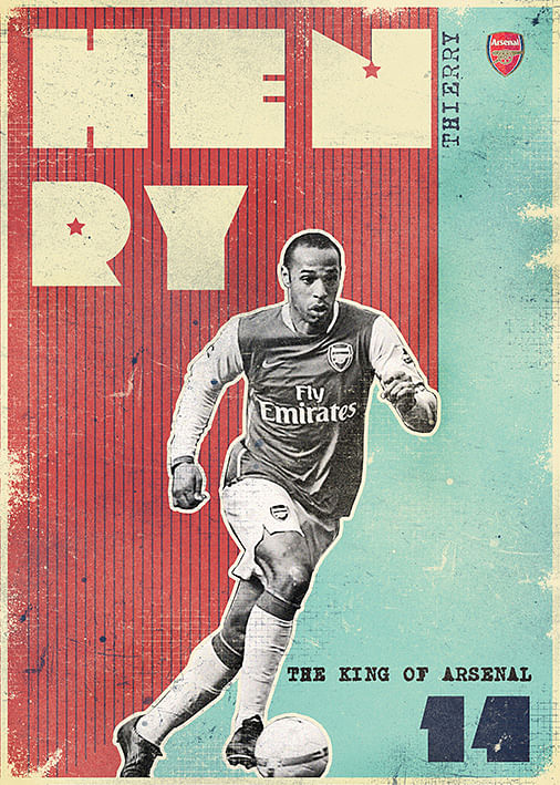 Legends of Arsenal: 13 brilliant posters of some of the Gunners' greatest