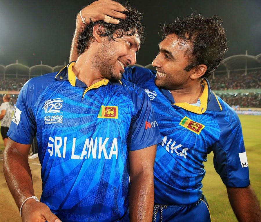 Kumar Sangakkara and Mahela Jayawardene - The awesome twosome bid adieu to home crowd