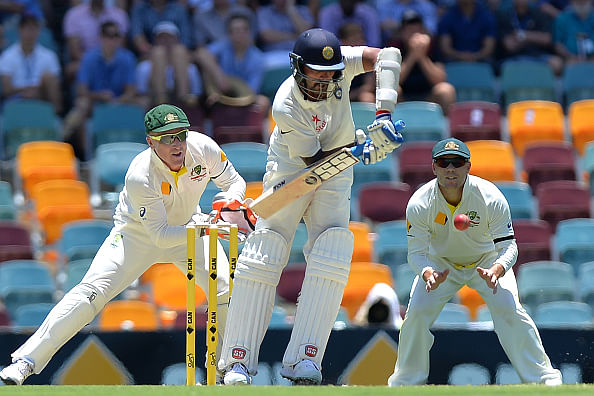 Australia v India, 2nd Test: Tea Report - Murali Vijay battles on as India lose Cheteshwar Pujara and Virat Kohli