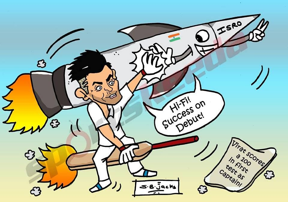 Comic: Virat Kohli's successful captaincy debut in Test cricket