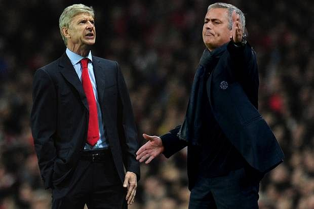 Satire: Jose Mourinho runs into Arsene Wenger while spreading holiday cheers.